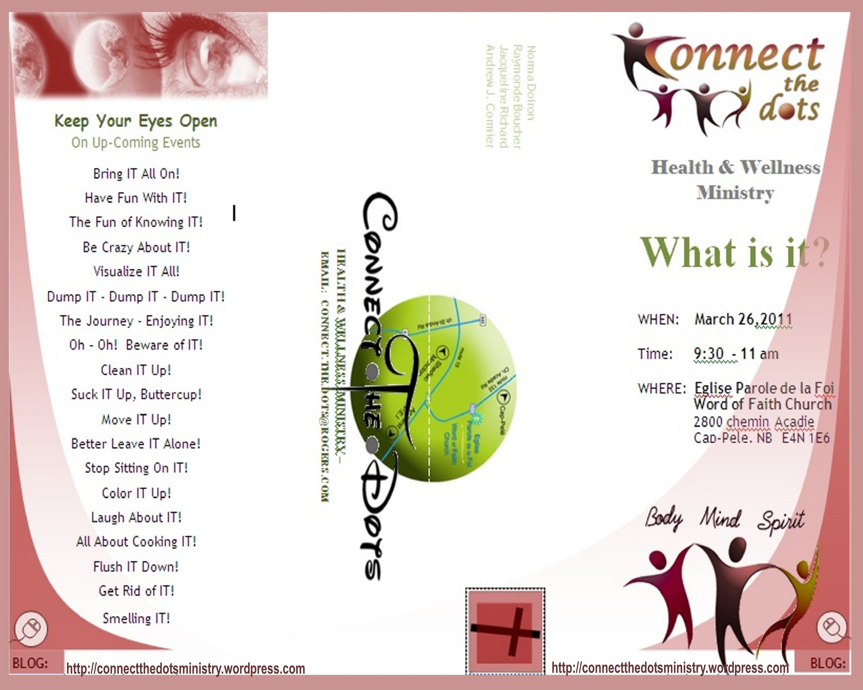 Connect.The.Dots Presentation – March 26, 2011